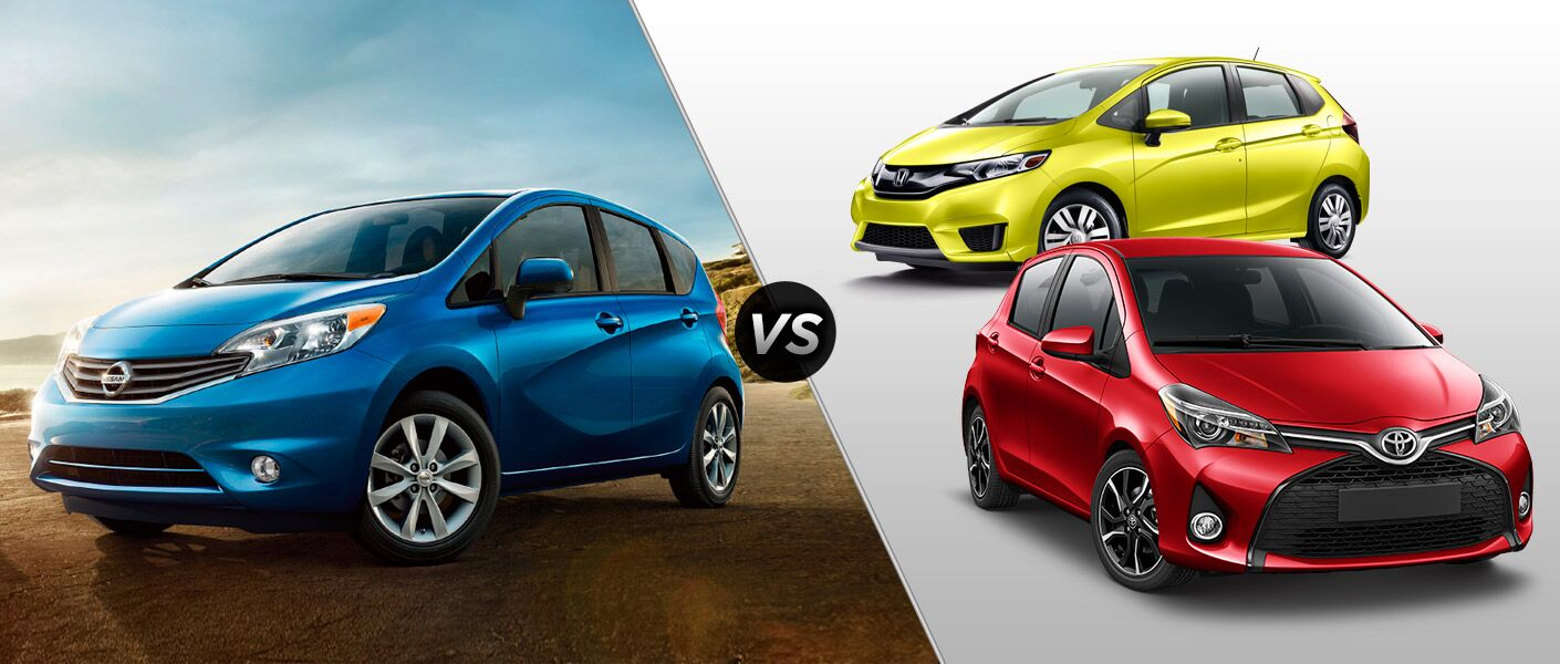 2015 Nissan Versa Note vs 2015 Honda Fit vs 2015 Toyota Yaris Houston TX