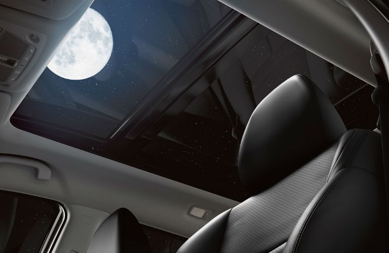 2018 Nissan Rogue with panoramic moonroof showing the moon