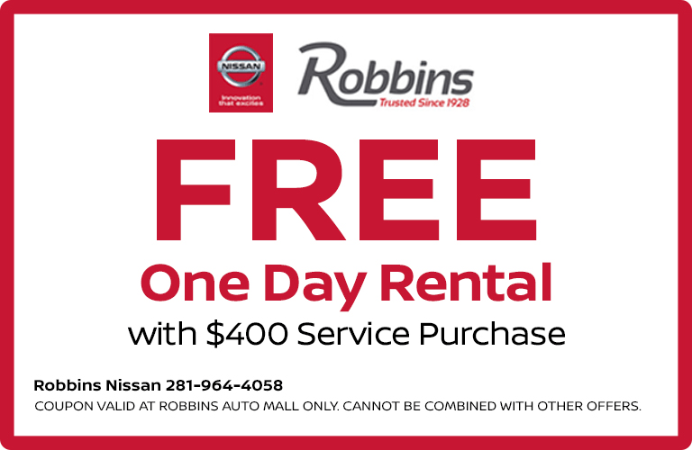 Why Rent Through Robbins Nissan?