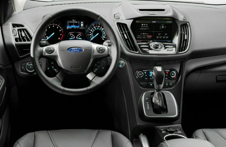 2014-ford-escape-interior-crossover-suv-steering-wheel-instrument-panel