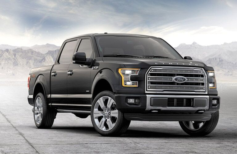 front and side view of gray 2016 ford f-150