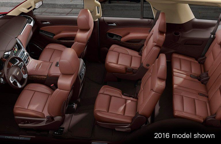2017 Chevy Tahoe interior seating area
