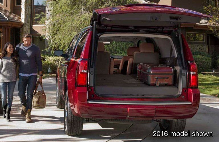2017 Chevy Tahoe exterior rear liftgate open cargo space