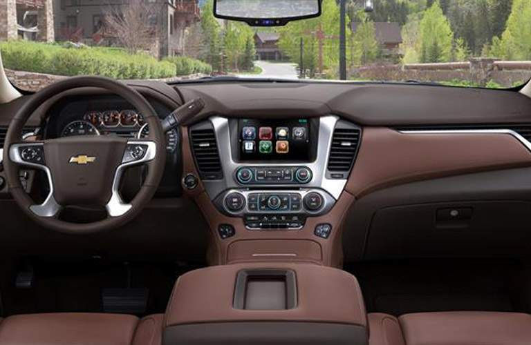 2017 Chevy Suburban interior front seating area
