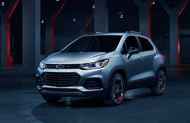 2018 Chevy Trax silver side view