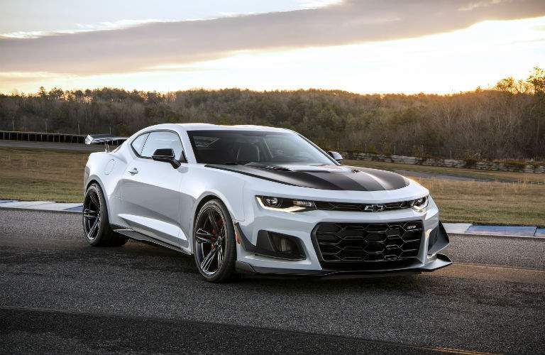2018 Chevrolet Camaro parked on a track at sunset
