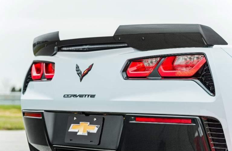rear view of the 2018 Chevrolet Corvette