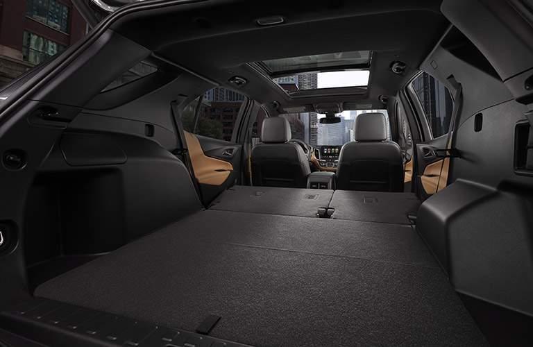 2018 Chevy Equinox interior maximum cargo space with seats folded