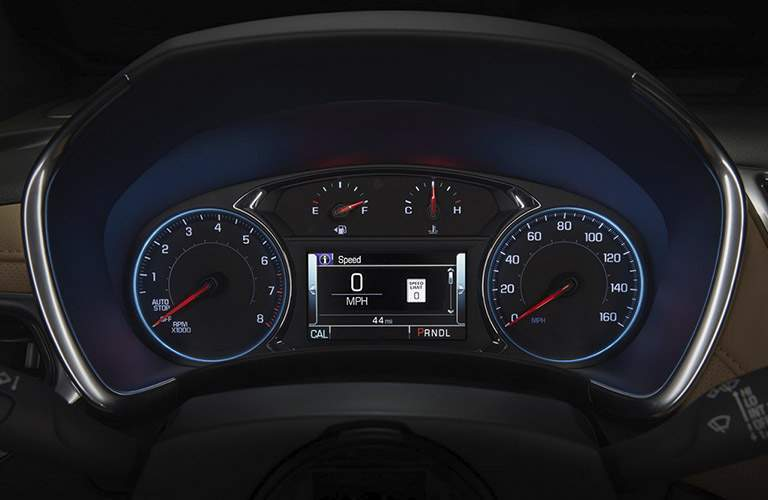 2018 Chevy Equinox interior gauges and trip computer