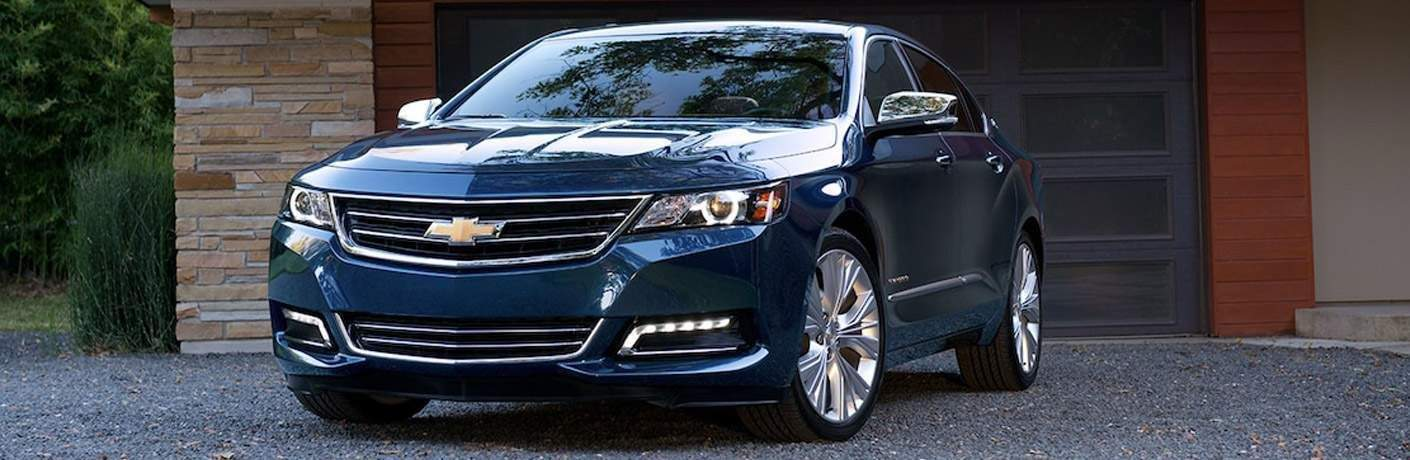 close up of the 2018 Chevrolet Impala front fascia in blue