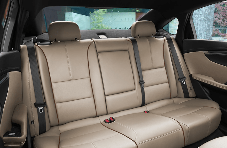 view of the second row seats inside the 2018 Chevrolet Impala