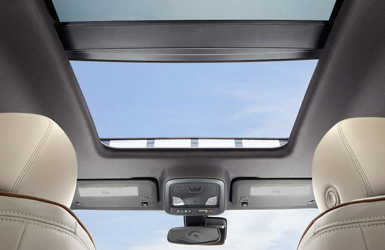 upward angled view of the sunroof in the 2018 Chevrolet Impala
