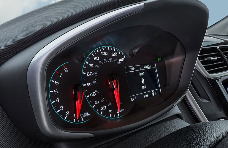 dashboard and gauge cluster of 2018 chevy sonic