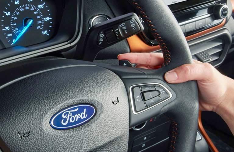 2018 Ford EcoSport interior steering wheel