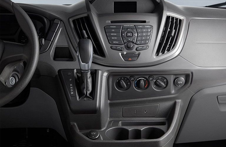 center infotainment system of 2018 ford transit connect cargo van
