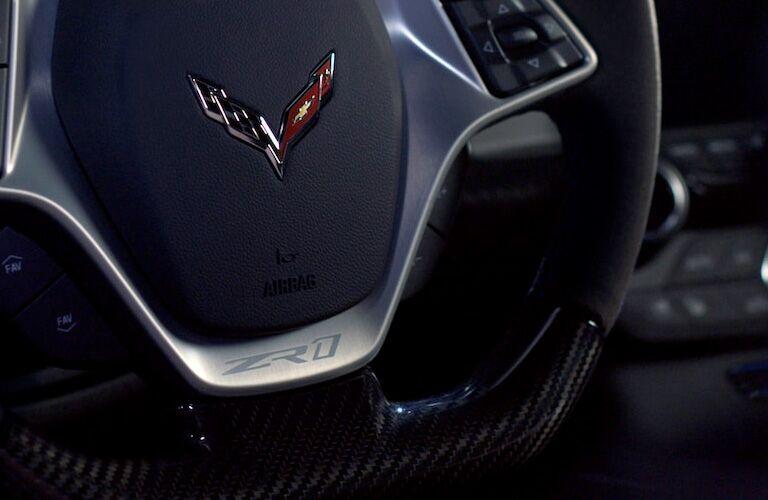 steering wheel of 2019 chevrolet corvette
