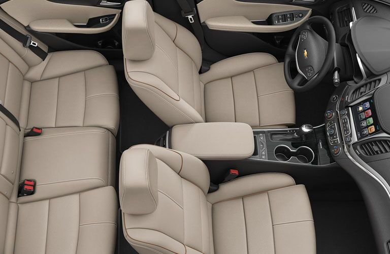 aerial view of interior seating of 2019 chevrolet impala