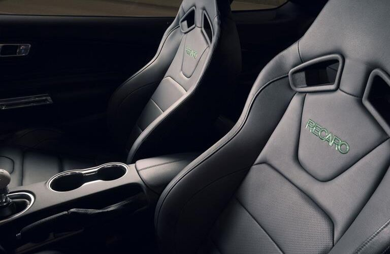 front seats and center console of 2019 ford mustang bullitt