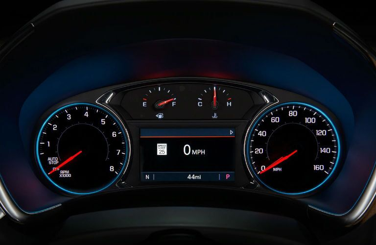 gauge cluster of driver's dashboard in 2019 chevrolet equinox