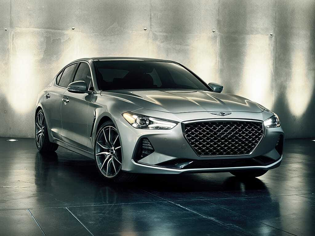 2019 Genesis G70 Exterior Passenger Side Front Angle