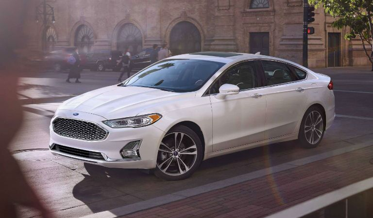 2019 Ford Fusion Hybrid Exterior Driver Side Front Profile