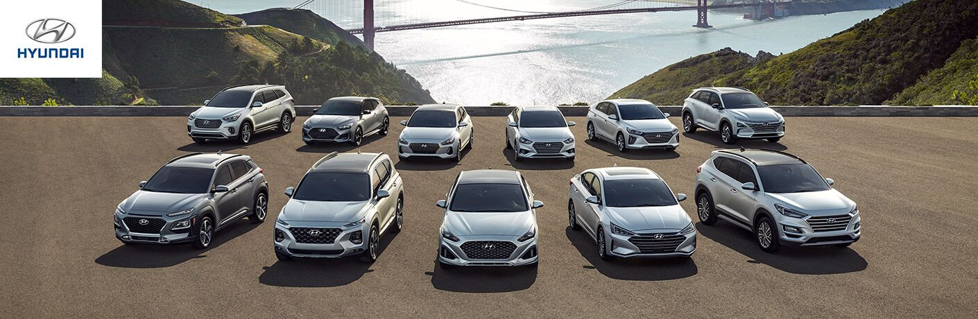 lineup of hyundai cars and suvs