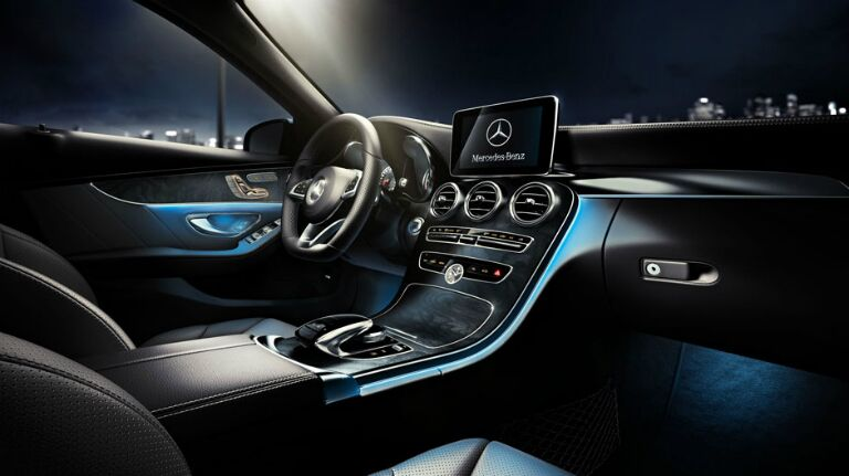 Illuminated Mercedes-Benz C300 Interior
