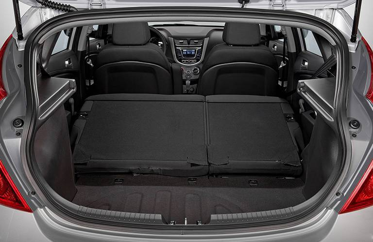 2017 Hyundai Accent hatchback cargo volume
