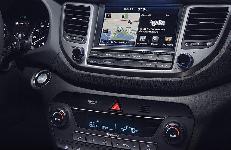 2017 Hyundai Tucson infotainment