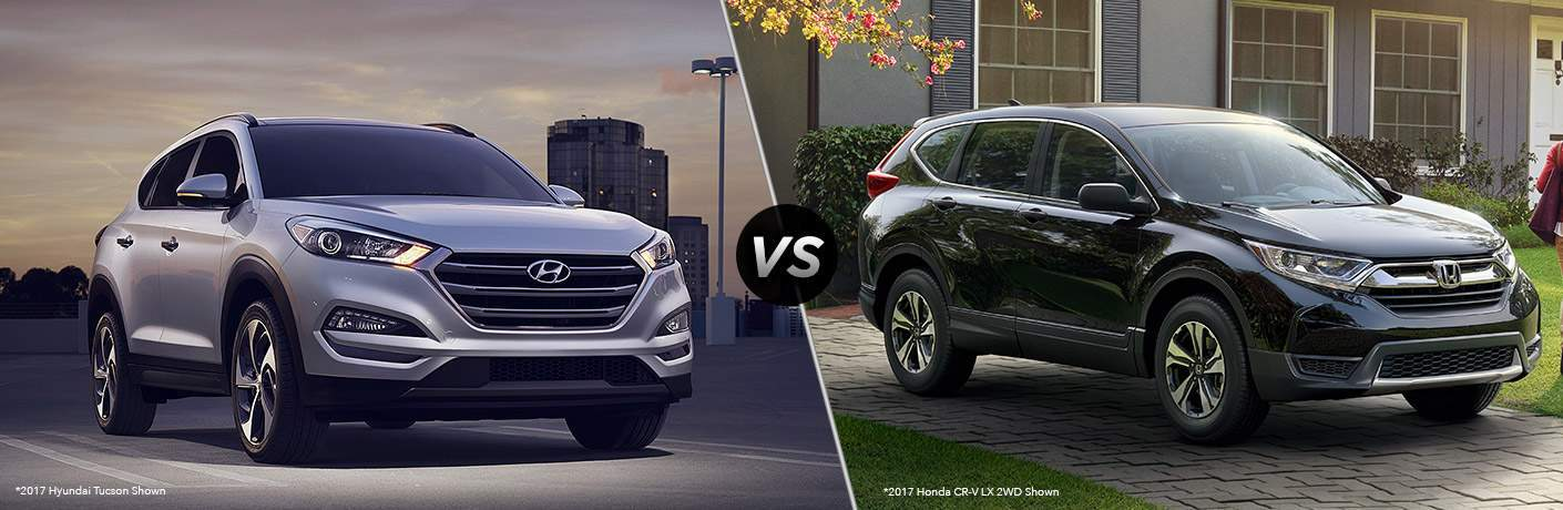 hyundai tucson and honda cr-v side by side
