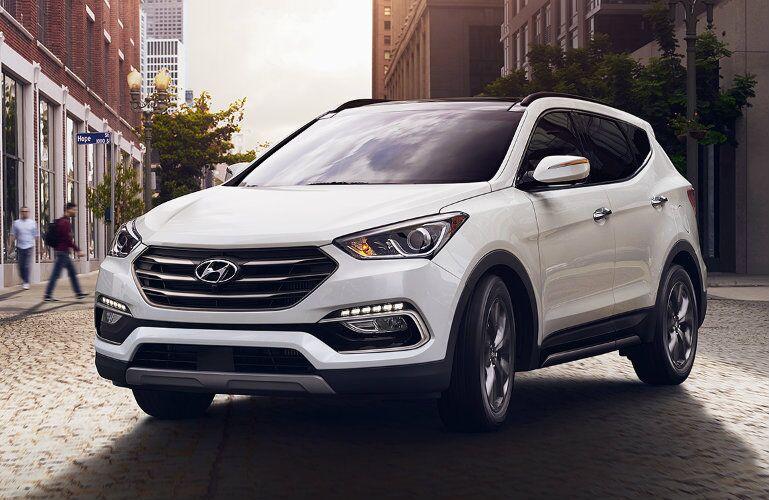 2017 Hyundai Santa Fe Sport White Exterior