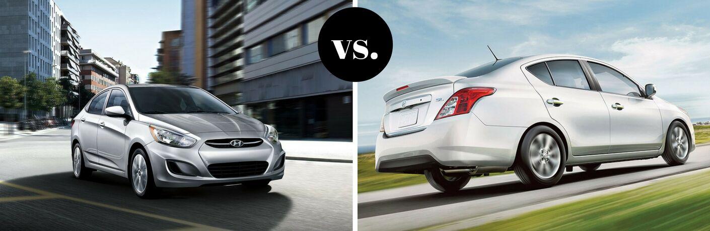 2017 Hyundai Accent vs 2017 Nissan Versa