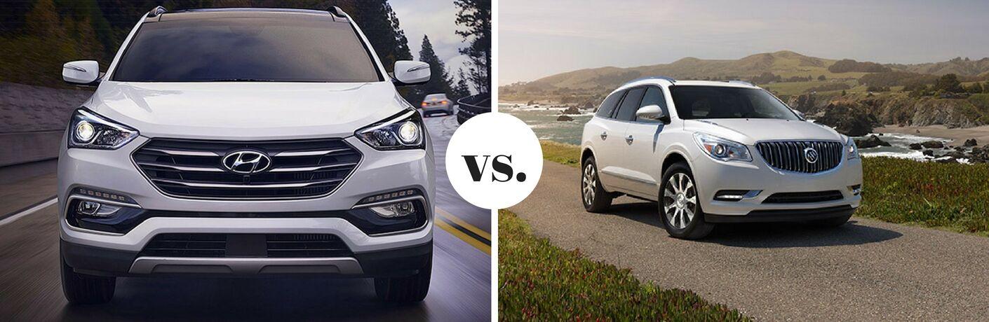 2017 Hyundai Santa Fe vs. 2017 Buick Enclave