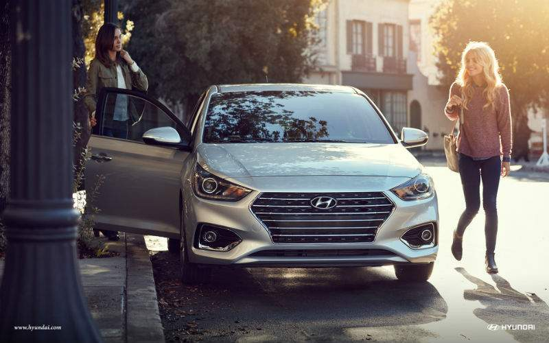 front view of 2018 hyundai accent