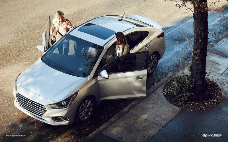 overhead view of 2018 hyundai accent