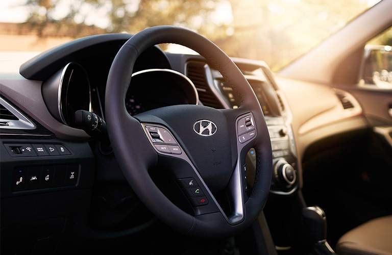 2018 Hyundai Santa Fe Sport steering wheel with controls