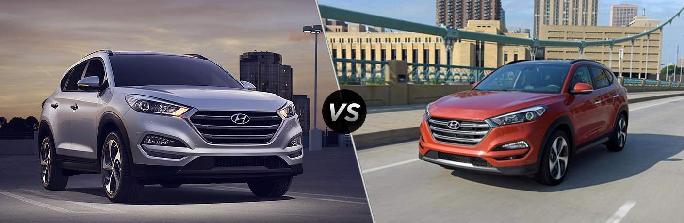2018 hyundai tucson and 2017 hyundai tucson side by side
