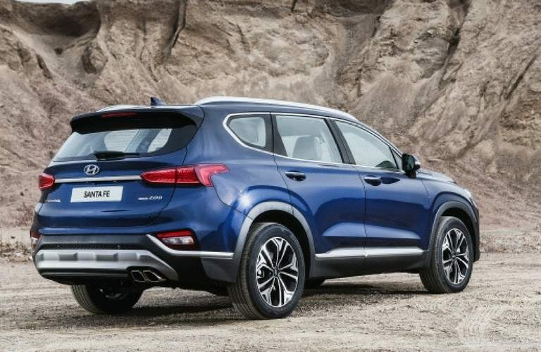 2019 hyundai santa fe full view parked off-road