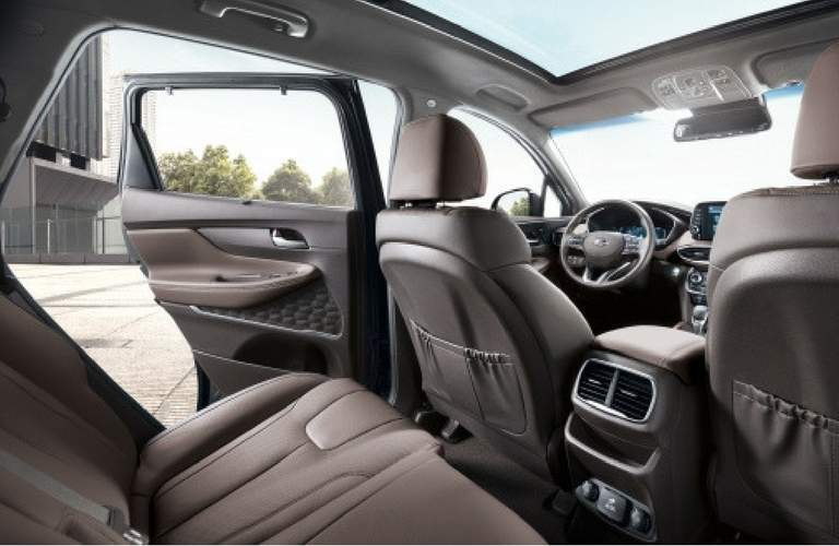 2019 hyundai santa fe first and second row seating