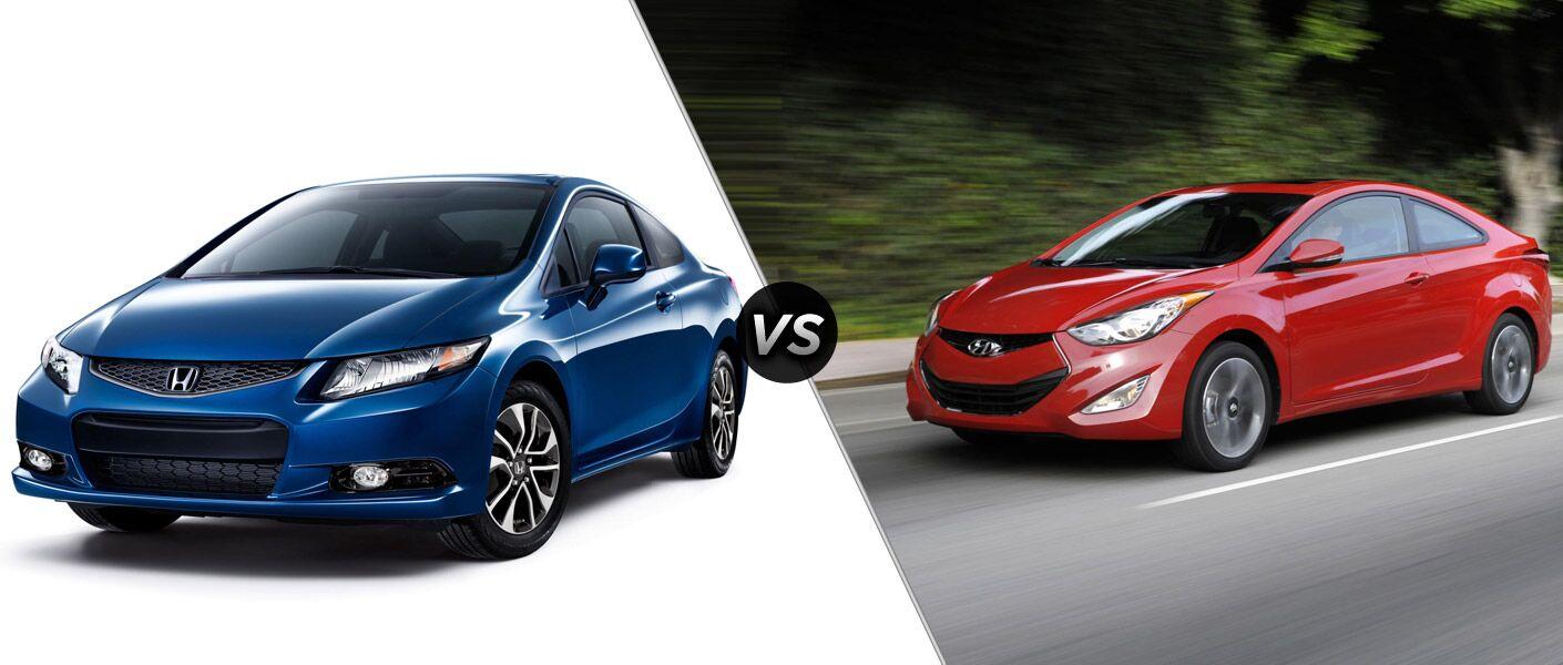 2013 honda civic vs 2013 hyundai elantra for Honda vs hyundai