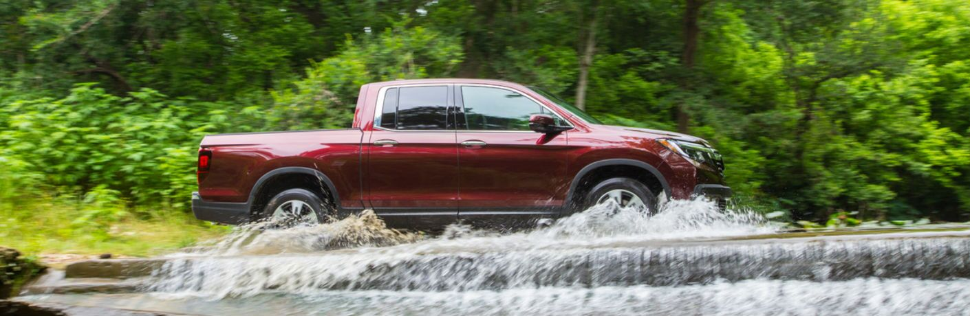 Ridgeline driving through water