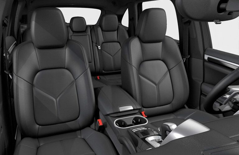 view of the seats of the 2017 Porsche Cayenne