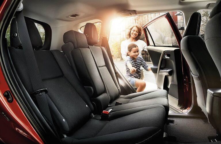 Rear Seat of the 2016 Toyota RAV4