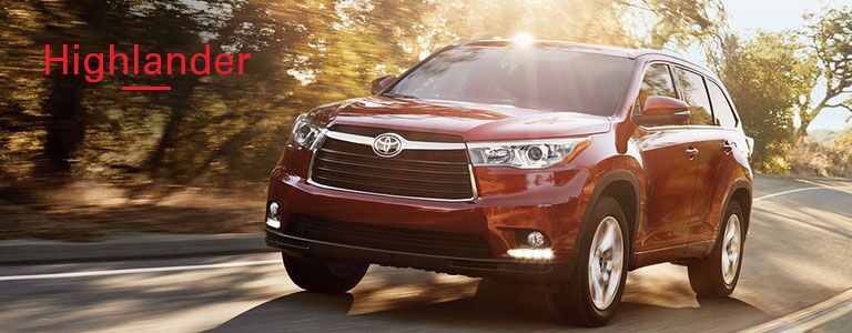 Front of the 2016 Toyota Highlander