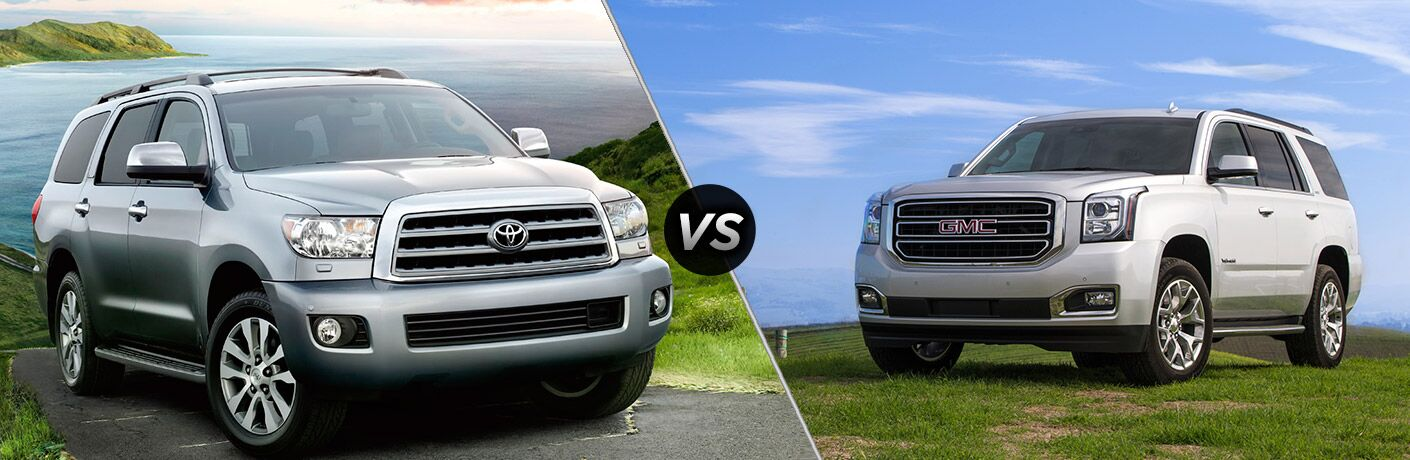 2017 Toyota Sequoia vs 2017 GMC Yukon