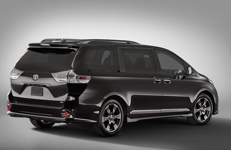 side and rear view of the 2018 Toyota Sienna