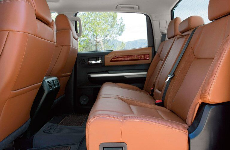 rear seats of the 2017 Toyota Tundra