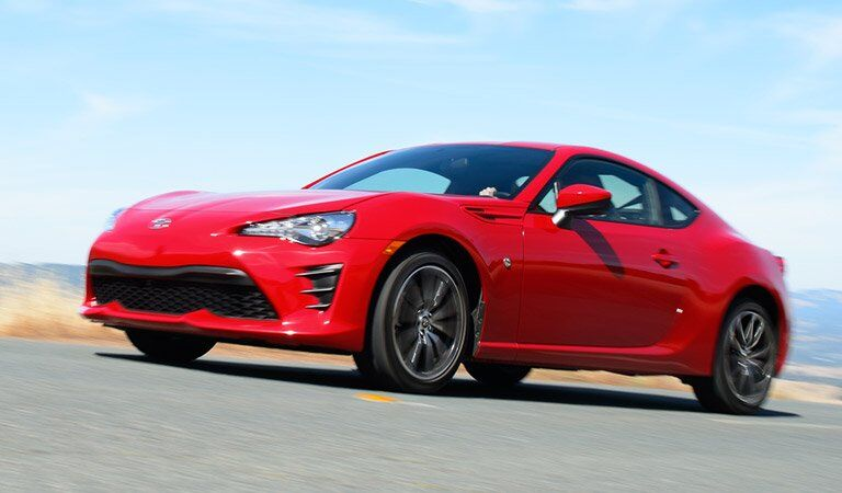 red Toyota 86 looking stylish