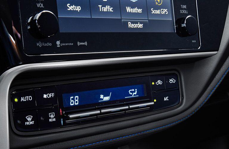 2017 Toyota Corolla Temperature Control