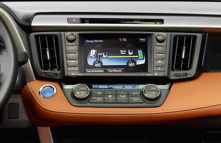infotainment touchscreen on the 2017 Toyota RAV4 Hybrid